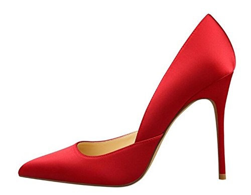 Shallow Stilettos PPXID Red Party Women's Fashion Pointed Toe Saint High Heels rzX7qzA