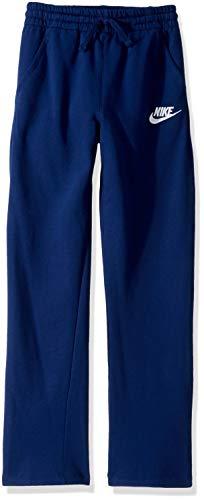 Club Fleece - Nike Boy's NSW Club Fleece Open Hem Pant, Blue Void/White, X-Large