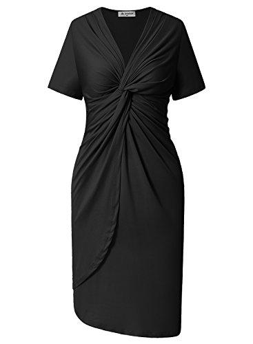 Ruffled Surplice Dress - 4
