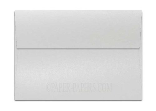 Shine PEARL White - Shimmer Metallic - A7 Envelopes (5.25-x-7.25) - 1000 PK