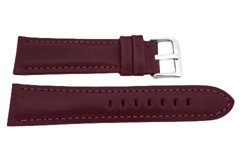 本革22 mm腕時計ストラップワイン色Hand Made In USA  B0734C54MK