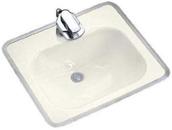 Almond KOHLER K-2890-4-47 Tahoe Metal Frame Bathroom Sink