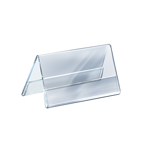 Count of 10 Clear Acrylic Two-Sided Nameplate (8.5'' W x 5.5'' H)