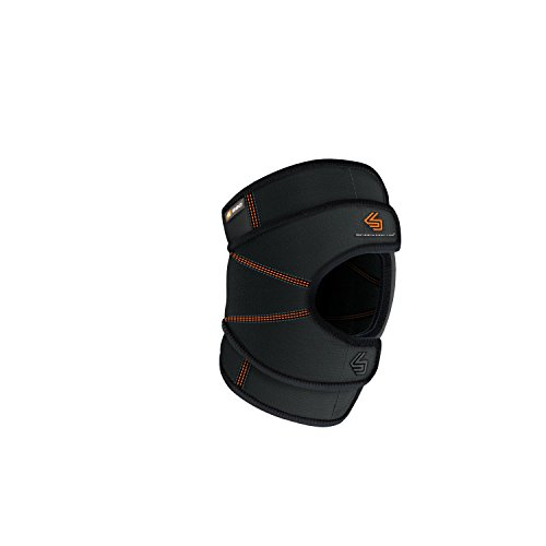 Shock Doctor Knee Brace Wrap, Knee Support Stabilizes Patella, Provides Comfortable & Lightweight Compression to Stabilize Muscles in The Knee, Single