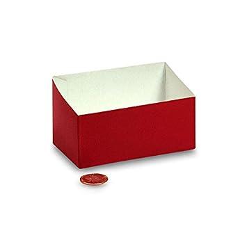 Amazon.com: Cartón rojo bolsas de celofán base de la bandeja ...