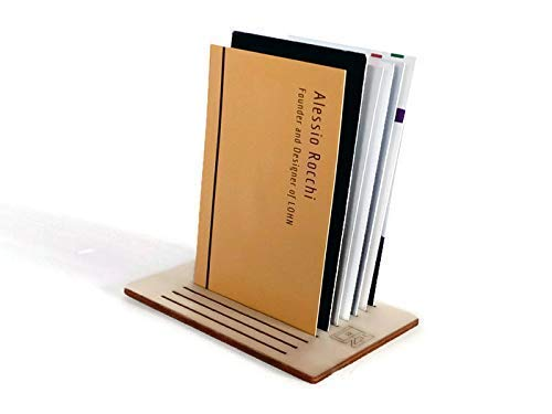Wooden business card stand as big as credit cards 20 available colors as grey Office desk accessories made of poplar…