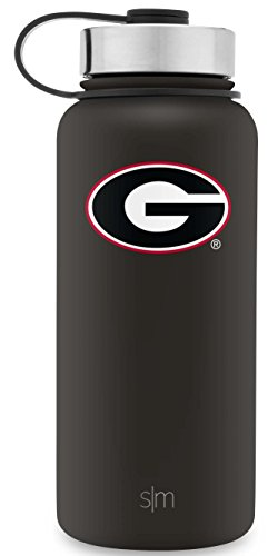 Bulldogs Bottle (Simple Modern University of Georgia Bulldogs 32oz Water Bottle Hydro Gift Flask swell - Vacuum Insulated Stainless Steel Tailgating Summit Official School Colors Powder Coated Double Wall Metal)