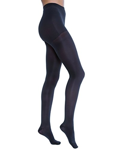 JOBST Opaque Waist High 15-20 mmHg Compression Stockings Pantyhose, Closed Toe, Small, Midnight Navy