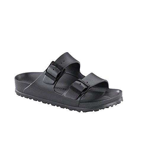 Birkenstock Unisex Arizona Essentials EVA Black Sandals - 46 M EU / 13-13.5 D(M) US (Birkenstock Arizona Black Leather Two Strap Sandals)