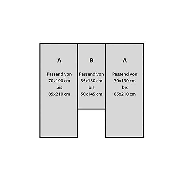31g PbUmNkS Erwin Müller Spannbettlaken 3er-Set für Wohnmobil oder Wohnwagen - Heckbett - Single-Jersey - blau - Größe 70x190 cm…
