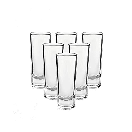 LILYPIN® San Marino Long Shot Glass 60 ml  Set of 6  Transparents