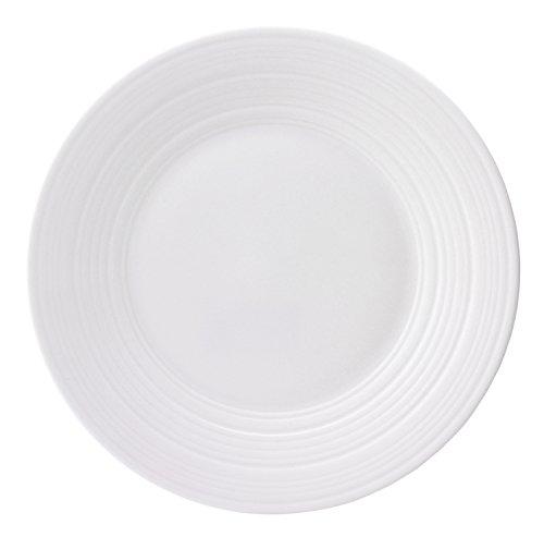 (Jasper Conran by Wedgwood White Bone China Salad Plate Swirl 9