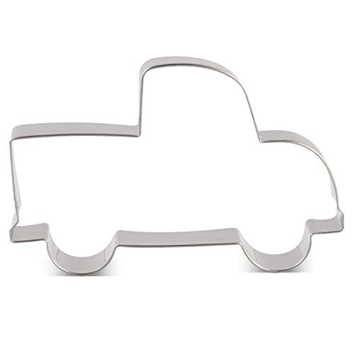 (LILIAO Vehicle Pick-up Truck Cookie Cutter - 4.5 x 2.9 inches - Stainless)
