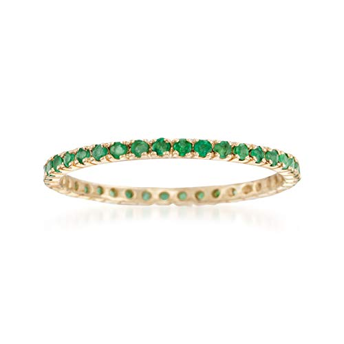 Ross-Simons 0.35 ct. t.w. Emerald Eternity Band in 14kt Yellow Gold