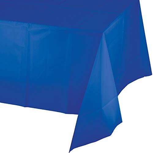 Cobalt Blue Plastic Tablecloths, 3 ct ()