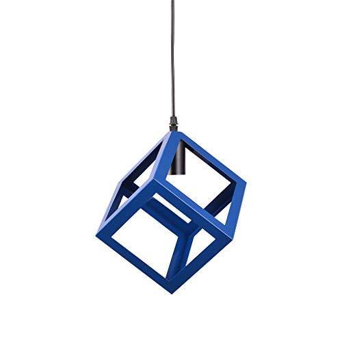 Longay Creative Chandeliers Nordic Modern Minimalist Iron Bar Restaurant (Blue)