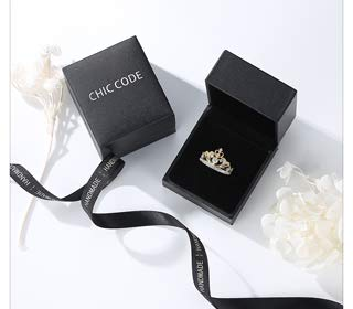 Chic Code Yellow & White Gold Plated 925 Sterling Silver Princess Crown Ring - Top Tiara Ring Gift by Chic Code (Image #6)