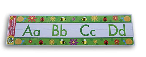 Teaching Tree Classroom Decor Alphabet Wall Border - 7 Piece (Spring Insects on Green) Abc Alphabet Wall Border