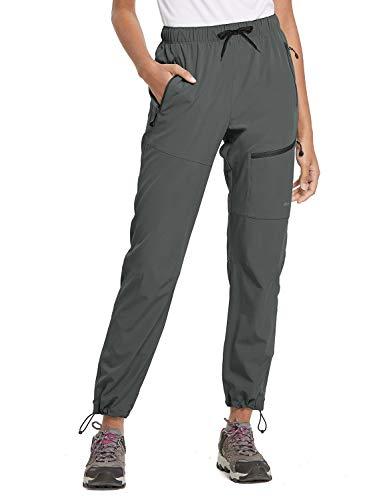 BALEAF Women's Hiking Pants Outdoor Lightweight Athletic Capris Pants Quick
