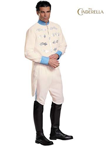 Adult Prince Eric Costume (Disguise Men's Prince Movie Adult Deluxe Costume, White,)