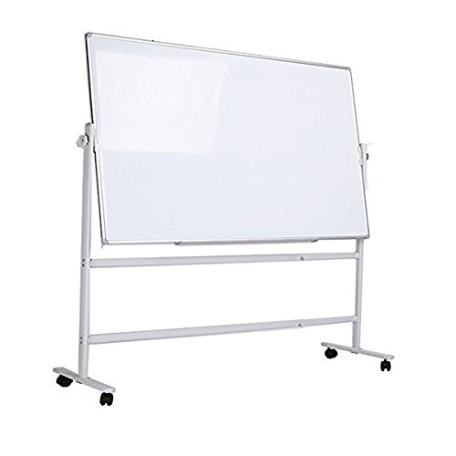 Magnetic Rolling whiteboard 2 Sided Dry Erase Boards 36x48 inches Mobile Easel Stand Large White Board on wheels ()