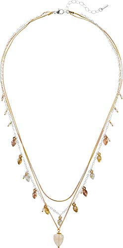 Chan Luu Women's Pre-Layered Leaf Cluster Short Necklace Multi Mix One Size ()
