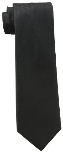 Cole Tie - Kenneth Cole REACTION Men's Darien Solid Tie, Black, One Size