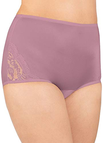 (Vanity Fair Women's Perfectly Yours Lace Nouveau Brief Panty 13001, Retro Rose, 2X-Large/9)