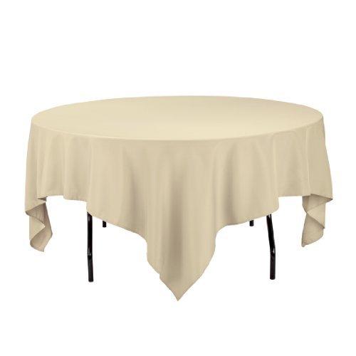 Burgundy Elegance Square Tablecloth (LinenTablecloth 85-Inch Square Polyester Tablecloth Burgundy)