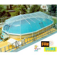 Sun Dome Pool Cover - 18 x 34 Oval 22 Panel Kit