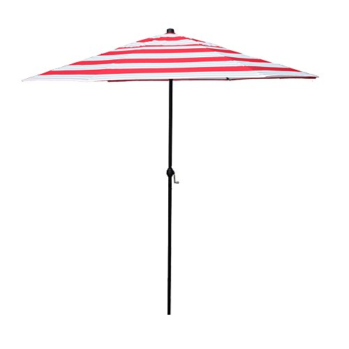 APEX LIVING 7.5 Feet Garden Patio Umbrella Market Outdoor Table Umbrella with Carry Bag Red and White Stripe For Sale