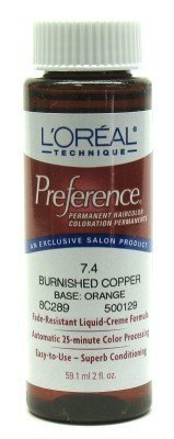 Price comparison product image Loreal Preference Color #7.4 Burnished Copper (3 Pack)