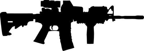 Ar-15 M16 Gun Vinyl Decal Sticker- 6