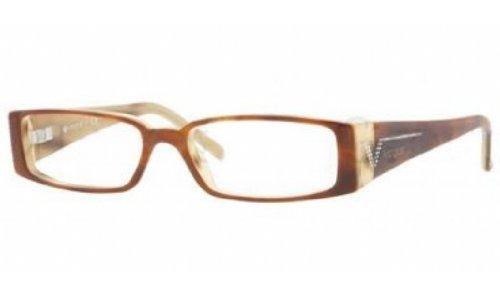 Vogue VO2557B 1667 Eyeglasses Top Havana-Beige Horn Demo Lens - Glasses Vouge