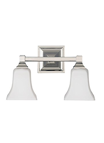 Feiss VS12402-PN 2-Bulb Vanity Light Fixture, Polished Nickel Finish