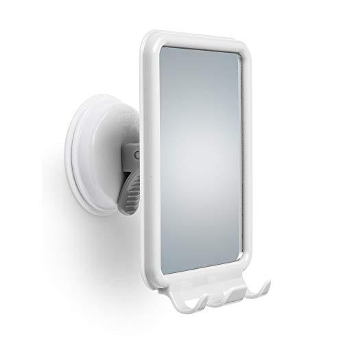Changing Lifestyles Safe-er-Grip Shower Mirror with 2 Razor Hooks