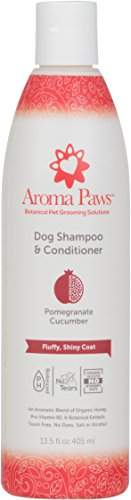 Aroma Paws Dog Shampoo - Cleansing Wash, Conditioning, Moisturizing - Toxin Free, Healthy Ingredients - Aromatic Grooming Puppy Shampoo - Tearless Cleaner, Pomegranate Cucumber