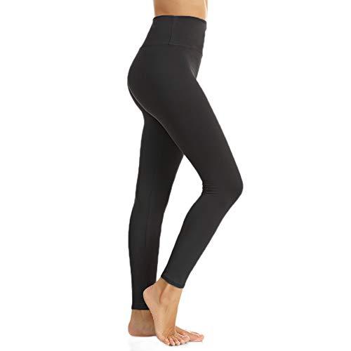 (Women's High Waist Leggings-Super Soft Slim Pants -One/Plus Size 20+ Design (01 Black, One Size (US 2-12)))
