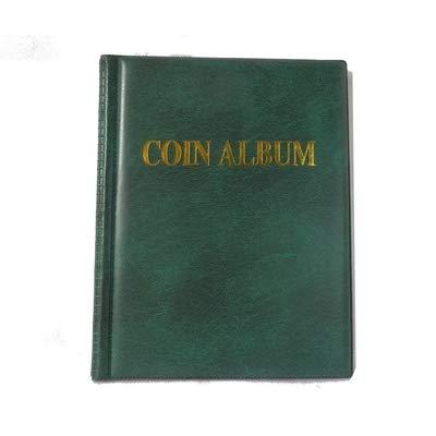Susuntas 250 Pockets Coins Album Collection Book Mini Penny Coin Storage Album Book Collecting Coin Holders for Collector Gifts Supplies (Green) ()