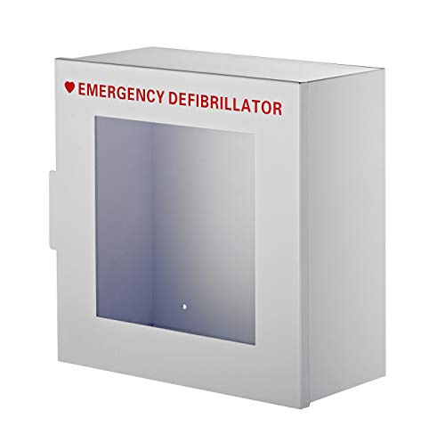 AdirMed Non-Alarmed Steel Cabinet Defibrillators 15'' W x 15'' H x 7'' - Standard Wall Mounted Enclosure - Easy Access Storage for Emergency Situation for Home & Office by AdirMed