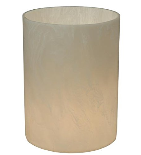 Meyda Tiffany 126840 Cylinder Alabaster Swirl Flat Top Replacement Lamp Shade, 6