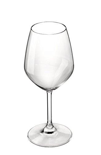 Bormioli Rocco 4 Piece Restaurant White Wine Glasses, 14.5 oz, Clear
