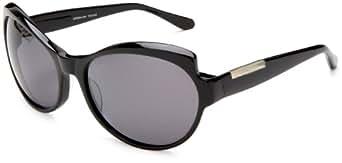 Derek Lam Women's Talullah polarized Sunglasses,Black Frame/Full Black Polarized Lens,one size