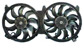 Maxima Radiator Cooling Fan Assembly (TYC 621660 Nissan Altima Replacement Radiator/Condenser Cooling Fan Assembly)