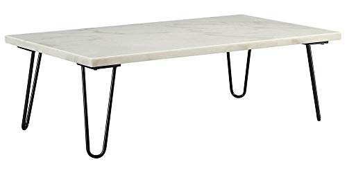 Acme Furniture Industry, INC Rectangular Coffee Table in White and - Manhattan Table Rectangular