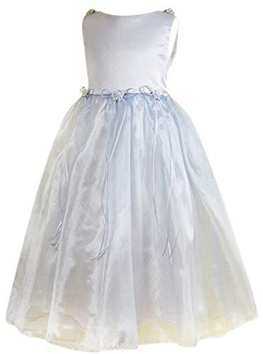 Mode Bride Kleid Aermellose Dream Hochzeit Hellblau Blumenmaedchen Party Brautjungfer Suesse BwEqqag
