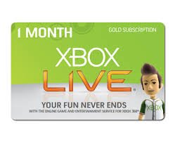 xbox live online code 1 month - 3