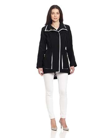 G.E.T. Women's Piped Jacket, Black/White, Medium