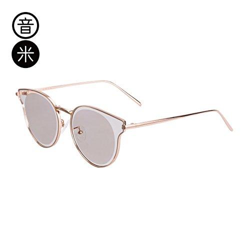 Tea Frame Sol Sol Golden Gafas regalos wind uv gafas cumpleaños decoración gafas frame outdoor gafas Llztyj De Purple sunglasses Mujer Sol Gold Uxwzx1RO