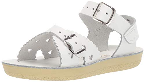 Salt Water Sandals by Hoy Shoe Sweetheart,White,12 M US Little Kid